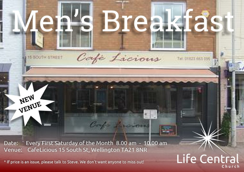 mens breakfast generic - new venue