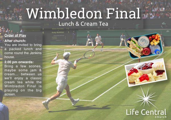 Wimbledom Men's Final – Cream Tea